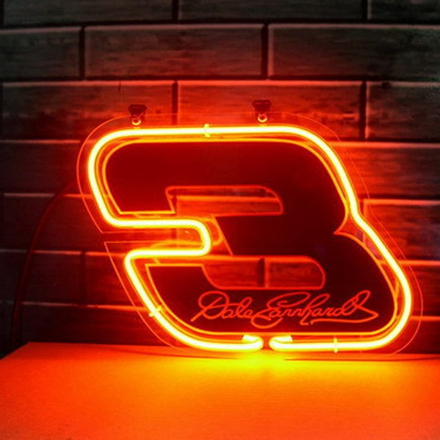 Urby® Coors Nascar #3 Dale Earnhardt Real Glass Neon Light Sign Home Beer Bar Pub Windows Garage Wall Sign 17''x14'' Z6