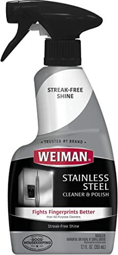 Weiman Stainless Steel Cleaner & Polish Trigger Spray - Protects Appliances From Fingerprints and Leaves a Streak-fre...