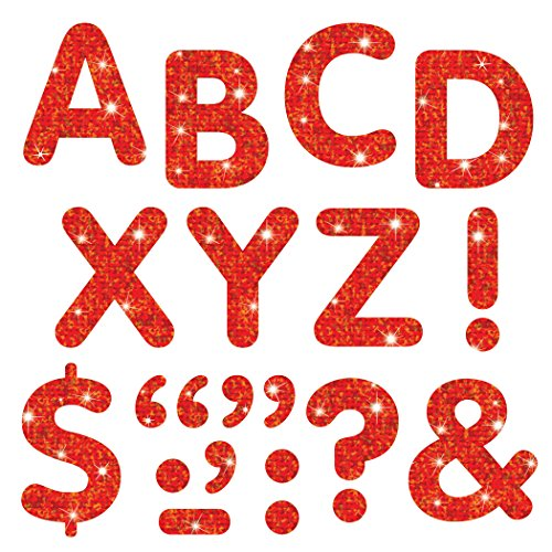 """TREND enterprises, Inc. Red Sparkle 2"""" Stick-EZE Sparkle Letters"""