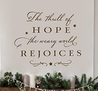 VinMea Wall Decor -Holiday Decorations - The Thrill of Hope The Weary World Rejoices - Wall Sticker