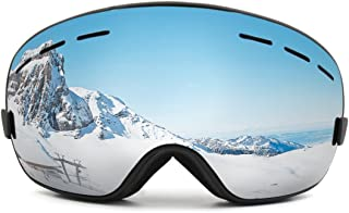 uxcell® Ski Snowboard Goggles Anti-Fog UV Protect Mirror Spherical Lens Panoramic View Eyes Comfort Medium Fit Snow Goggles Outdoor Winter Sports for Men Women Youth Uxcell