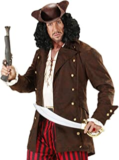 shoperama Pirates of the Caribbean Pirate Jacket with Gold Buttons–Brown–