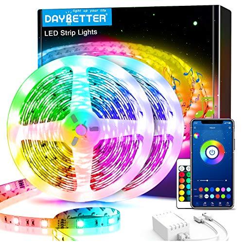 60ft Daybetter Smart Led Lights,5050 RGB Led Strip Lights Kits with Remote, App Control Timer...