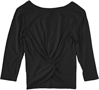 J Crew - Women's Twist-Back 3/4 Sleeve Cotton Tee