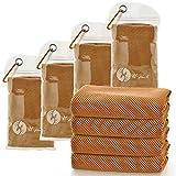 U-pick [4 paquetes] Toalla (100 x 30 cm) de microfibra, suave y transpirable para yoga, deporte, gimnasio, entrenamiento, camping, fitness, correr, entrenamiento y más actividades, Anaranjado