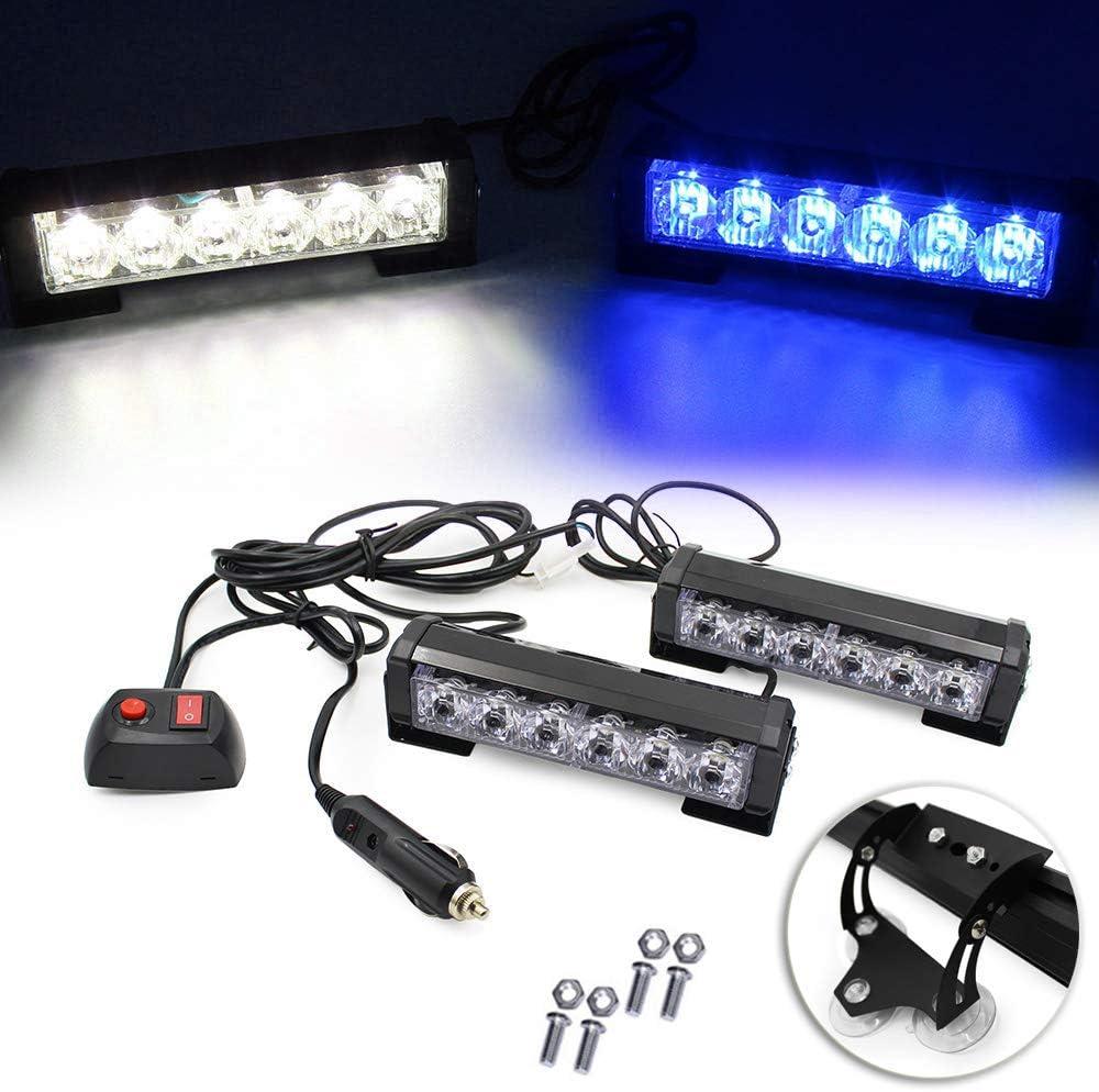 2 X 6 55% OFF LED Emergency Strobe Light 9 Modes 6.5
