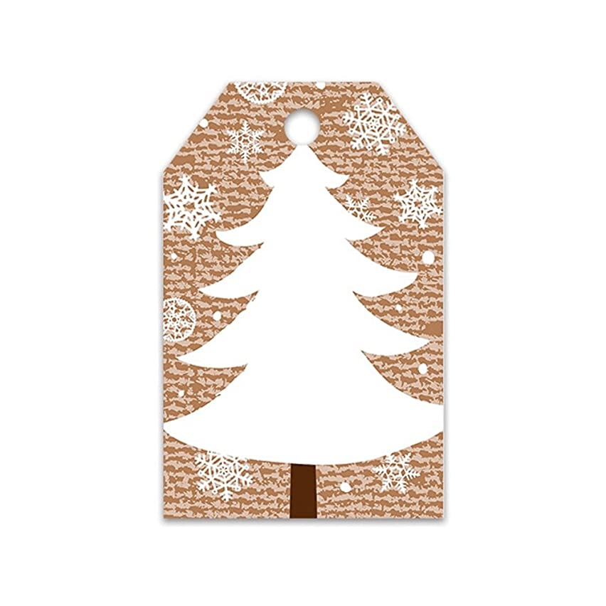 Christmas Tree Holiday Gift Tags - 50 Pack