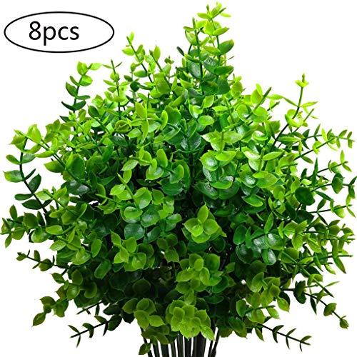 Planta Artificial Arbusto Plastico para Balcon Cocina Jardinera Terraza Valla Boda Maceta Colgante Patio Verde Decoracion