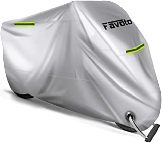 comprar comparacion Favoto Funda para Moto Cubierta de la Motocicleta 210D Oxford Sellado Térmico de Costura a Prueba de Polvo Lluvia Viento H...