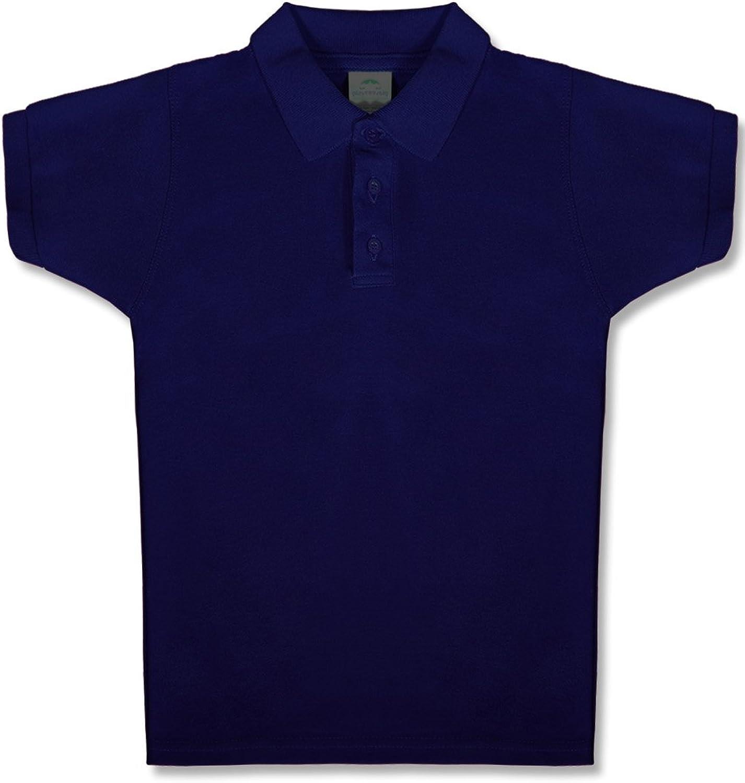 Upparel Boys' Short Sleeve Pique Polo
