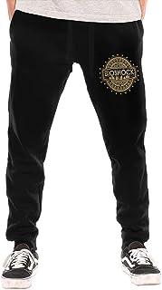 huatongxin Bioshock Men's Breathable Casual Cozy Long Pantalón de chándals Workout Pants