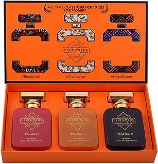 "Perfumer's Club""All Time Classic Fragrances for Women"" Gift Set of 3 (Bombshell + Trendsetter + NightQueen) Upto 24 hrs la..."