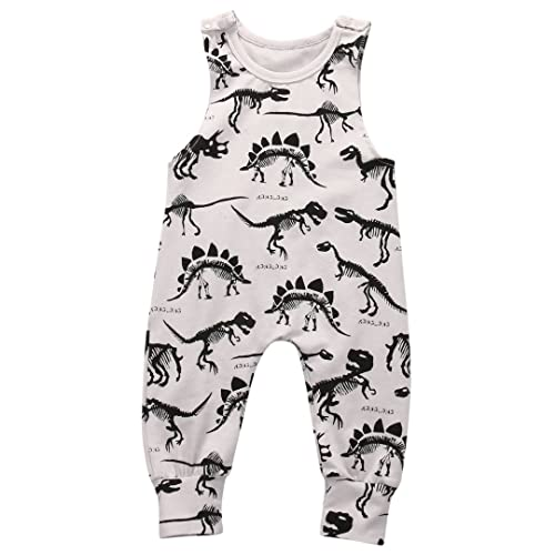 7c611f7ed2c6 Summer Baby Boy Girl Animal Printed Sleeveless Romper One-Piece Bodysuit  Jumpsuit Outfits Gray