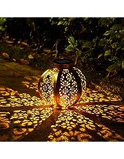 OxyLED lampa solarna do użytku na zewnątrz, klasa wodoszczelności IP44, dekoracyjna lampa ogrodowa, dekoracja na zewnątrz, do ogrodu, patio, taras i podwórze, na Boże Narodzenie (ciepła biel)
