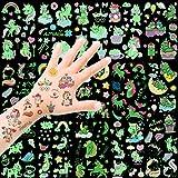 HOWAF Tattoo Kinder, Einhorn Tattoos Set, 300 Stück im Dunkeln leuchten Einhorn Tattoos Kinder,...