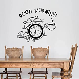 Wall Stickers Good Morning Decorative Sticker Waterproof Home Decor For Baby'S Rooms Removable Decor Wall Decals 43x50Cm