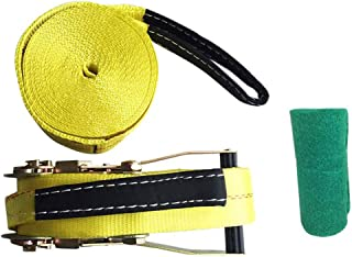 Iycorish 10M Slackline para Deportes Extremos Al Aire Cuerda Blanda Engrosamiento Cuerda de Equilibrio de Fitness