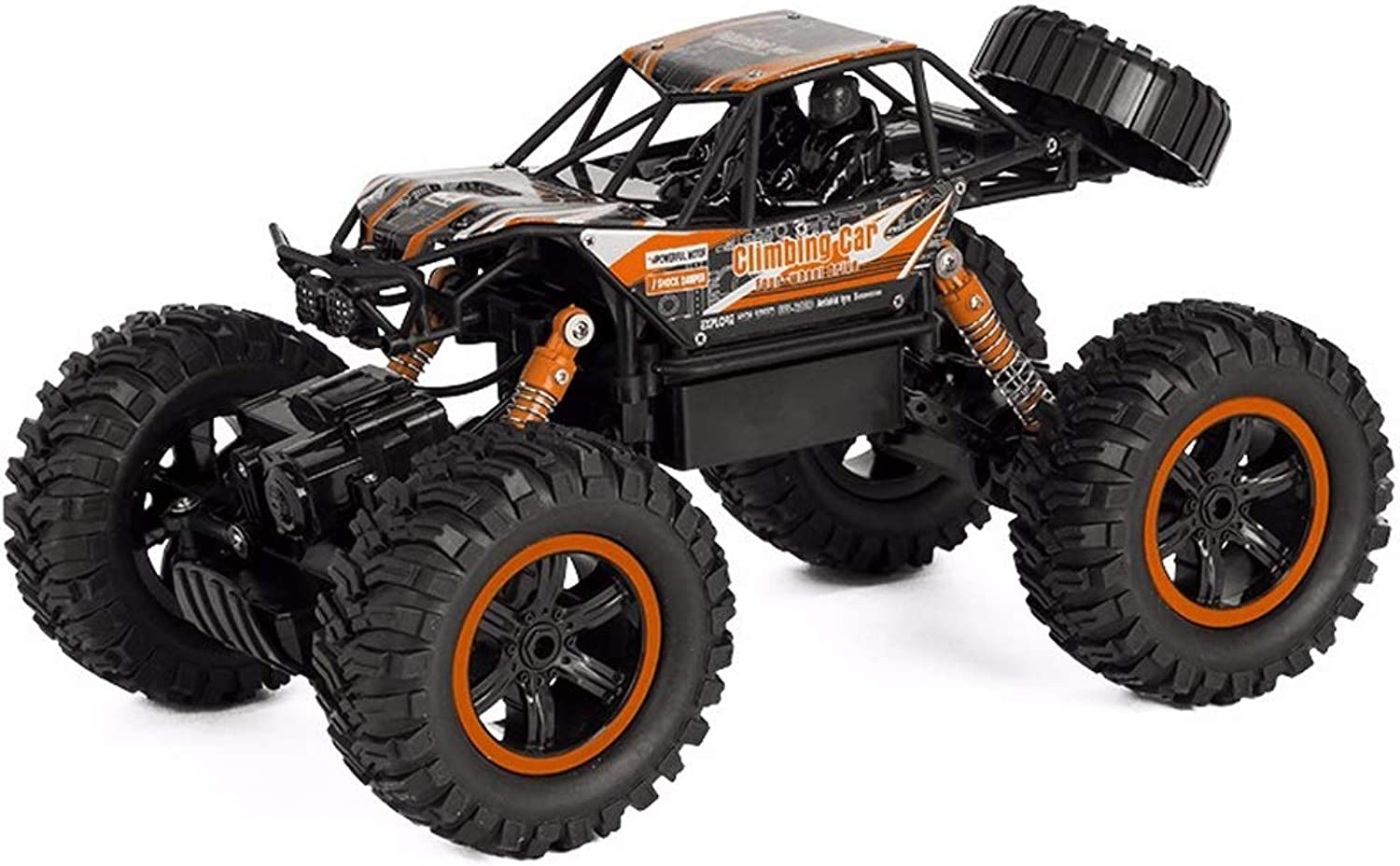 PETRLOY High Speed Racing 1 14 Car OffRoad Vehicle 2.4Ghz Radio Remote Control Monster 4WD Trucks Car With Two Rechargeable Batteries Off Road Crawlers Cars Batteries And Dual Motors Car