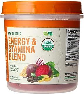 BareOrganics Energy & Stamina Blend Powder | Organic, Vegan, Gluten-Free, Non-GMO, BPA-Free | Beet, Cacao, Maca, Ginger Ro...