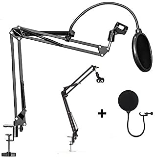 OZSTOCK® Microphone Suspension Boom Arm Desktop Stand Mic Holder Mount