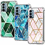 (3-Pack) OnePlus Nord N200 5G Case, Soft Clear TPU [Scratch-Resistant] Drop Silicone Bumper Protection Shockproof Phone Case Cover for OnePlus Nord N200 5G (6.49', 2021), Marble