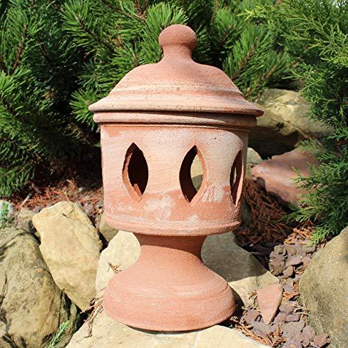 Lanterna da tavolo Terracotta (alta 29 cm, diametro 17 cm) 100% made in Italy lavorato a mano al tornio (non a stampo) Porta candele interno casa esterno giardino