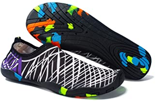 YILISER Water Sports Shoes Barefoot Quick-Dry Aqua Yoga Socks Slip-on for Men Women Kids