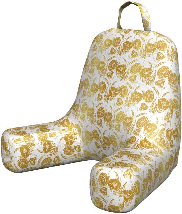 San Antonio Mall Ambesonne Floral Foam Reading Pillow Toned Rural Fl Gold Limited price Yellow