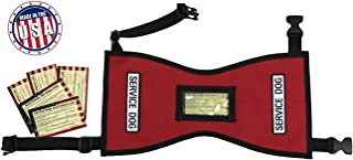 Petjoy-Wiredog Quick-Ship Service Dog Vest Free Patches 5 Free Info Cards in Clear Pocket