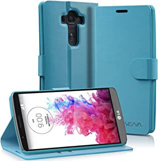 LG G4 Wallet Case - VENA [vSuit] Draw Bench PU Leather Wallet Flip Cover with Stand and Card Slots for LG G4 (NOT Leather Back Compatible) (Electric Blue)