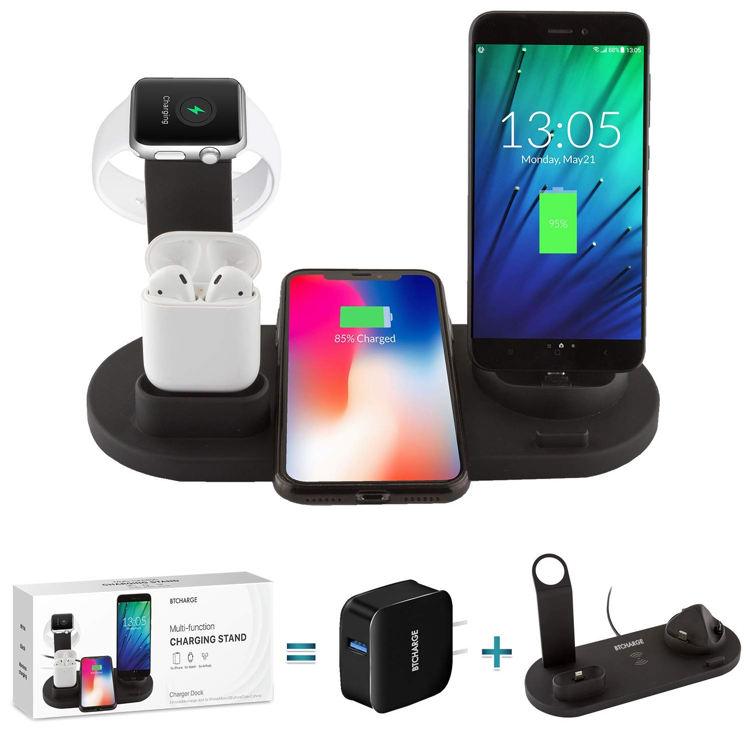 BTCHARGE Wireless Charger Dock Compatible
