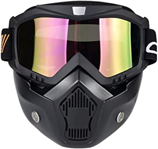 3c62a311380 Wenyujh Anti-Fog Windproof Face Mask Motorcycle Ski Goggles with Mouth  Filter