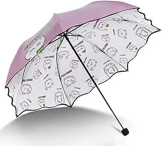 YQRYP Mini Travel Sun Umbrella &rain Umbrella - Light Compact Parasol with UV Protection for Umbrella Windproof Umbrella, Golf Umbrella (Color : Pink)