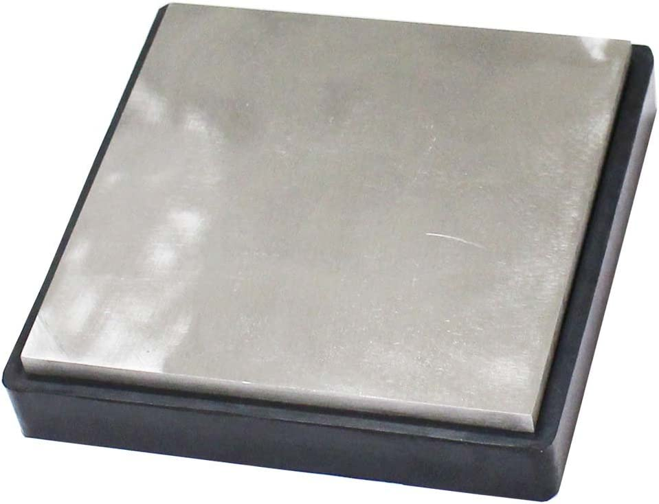 6-1 4 Inch Square Bench Block Of NEW売り切れる前に☆ Hig Steel 送料無料(一部地域を除く) Rubber-1-1 And