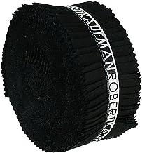 Robert Kaufman 2-1/2in Strips Roll Up Kona Solids Black Colorway 40Pcs