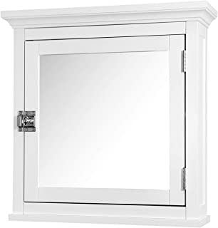 Elegant Home Fashions Madison Collection Mirrored Medicine Cabinet, White