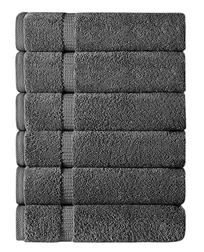 TOWELS BEYOND Set di 6 asciugamani da bagno in 100% cotone turco (50 x 90 cm) Lux – per il bagno e la spa – panni assorbenti e morbidi da regalare – Premium Hotel