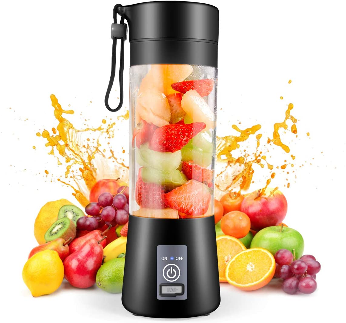 Portable Blender,Personal Blender,Smoothies Mini Jucier Cup USB Rechargeable and Personal Size Blender Shakes,380ml,Fruit Juice,Mixer: Home & Kitchen