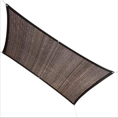 CJC Voiles d'ombrage Ombre Meshs Net Tissu Bache Jardin Fleur Balcon, Toit, Piscine Multifonctionnel Voile D'ombre (Couleur   Coffee Couleur, Taille   4x6m)