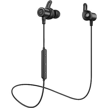 【進化版】【aptX HD & AAC 対応】SOUNDPEATS Q30 HD Bluetooth イヤホン 14時間連続再生 高音質 ワイヤレスイヤホン IPX7 防水 スポーツイヤホン QCC3034チップセット採用 CVC8.0ノイズキャンセリング搭載 ブルートゥース イヤホン サウンドピーツ Bluetooth ヘッドホン [IPX7防水証書取得済] (Black)