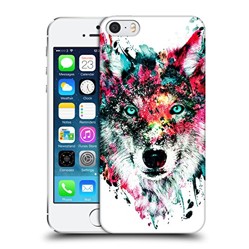 Head Case Designs Officiel Riza Peker Loup Animaux Coque Dure pour l'arrière Compatible avec Apple iPhone 5 / iPhone 5s / iPhone Se 2016