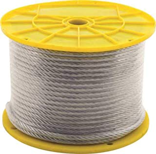7X7 AIRCRAFT CABLE, PVC COATED, 3/32 IN. X 1/8 IN. X 250 FT.