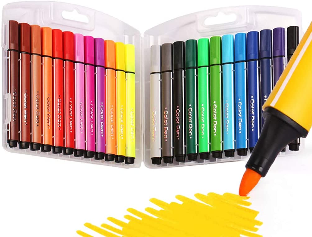 SAYEEC 24 Assorted Colors 5% OFF Coloring Set Indianapolis Mall Marker Washable for Pens