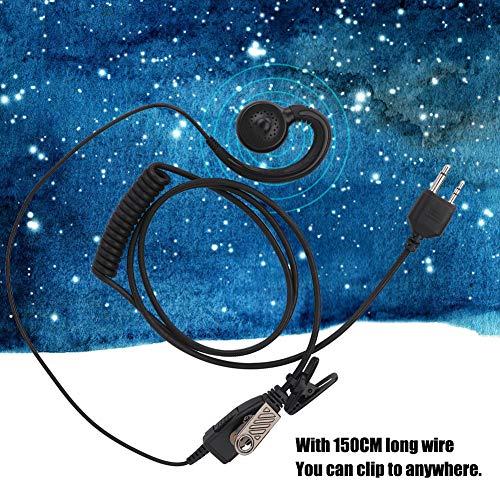 Jiawu Auriculares con Gancho para la Oreja, Auriculares con walkie Talkie bidireccionales, portátil Duradero para música al Aire Libre