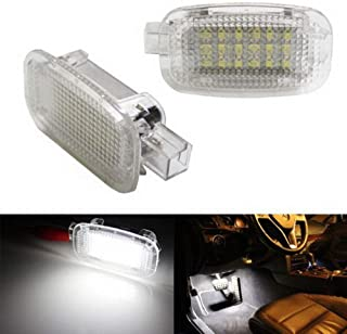 iJDMTOY (2) Full LED Side Door Courtesy Lamp For Mercedes-Benz C E S R G ML CL SL GL GLK Class, OEM Replacement as Footwell, Vanity Mirror, Trunk or Glovebox Light, Powered by 18-SMD White LED Lights