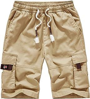 95d5d11a59f59 LINSINCH Bermudas Grande Taille Short Lin Homme Pantalons Casual ExtéRieur  Poche Travail Plage Baggy pour Hommes