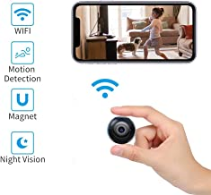 Hidden Camera Wireless 1080P, Mini Spy Camera WiFi with Motion Detection and Night Vision Small Wireless Home Security Camera Nanny Cam Surveillance Camera with Cell Phone App-Live Streaming