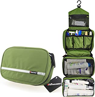 Relavel Cosmetic Toiletry Travel Bags Hanging Cosmetic Pouch Waterproof Compact Business Gift Personal Care Hygiene Purse Army Green