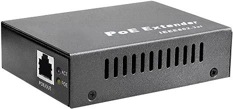 BV-Tech Single Port Gigabit POE+ Extender – Extend 330ft (100m) – 802.3af/at – POE-RP101G