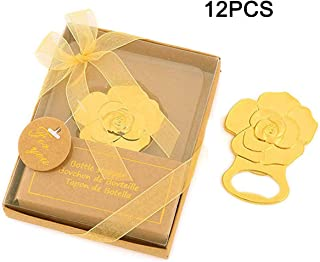Yansanido 12pcs Rose Shaped Bottle Openers Baby Shower Return Gifts Wedding Favors for Guests Party Favors (12pcs Rose)
